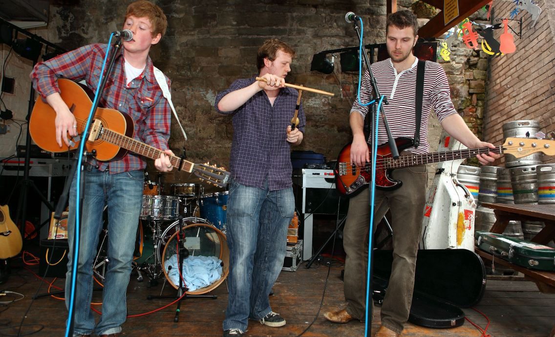 Small Engine Repair playing at The Barrels, photo copyright Richard Shakespeare
