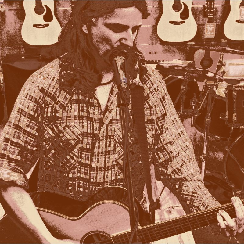 Tim Manning flannel shirted songsmith from Blind River Scare